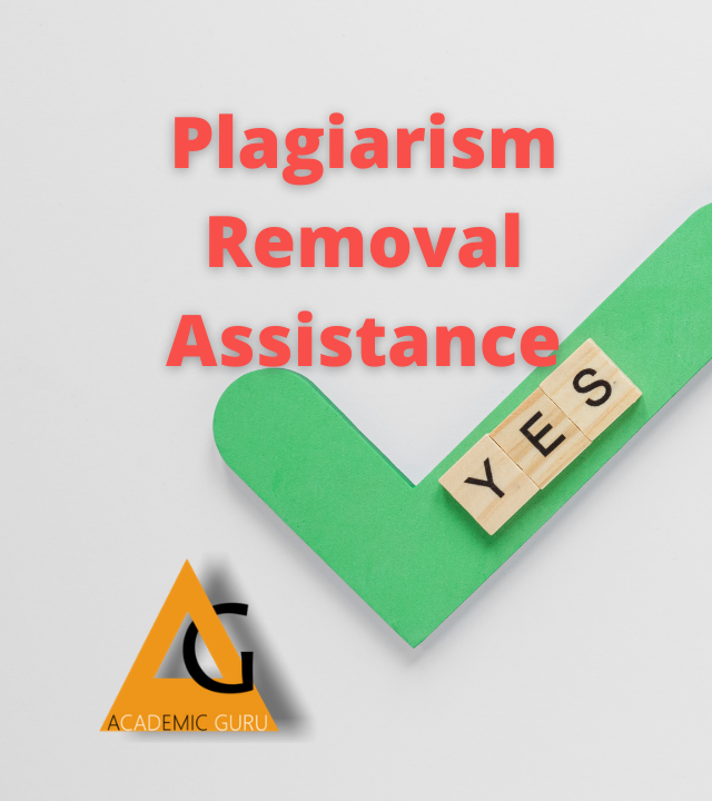Plagiarism Removal Assistance